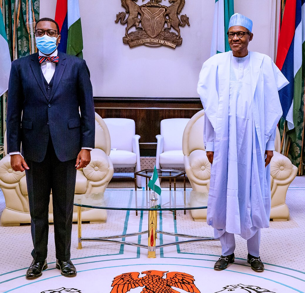 Adesina gets Buhari supports for 2nd Term as AfDB President